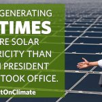 Solar energy is booming. #ActOnClimate