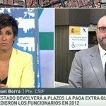 """Miguel Borra, CSIF: """"La subida del sueldo de los funcionarios del 1% es demasiado rácana"""" ▶ http://t.co/tveaXc1poq http://t.co/upYb2bxQNg"""