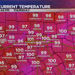 Yesterdays high of 102 at DFW was the hottest this year. We should beat that this afternoon. #dfwwx http://t.co/iqjS5I5yjf