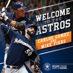 Welcome to the #Astros, @C_Gomez27 and @Fiers64! #HTownPride http://t.co/wtKvcnDx6g
