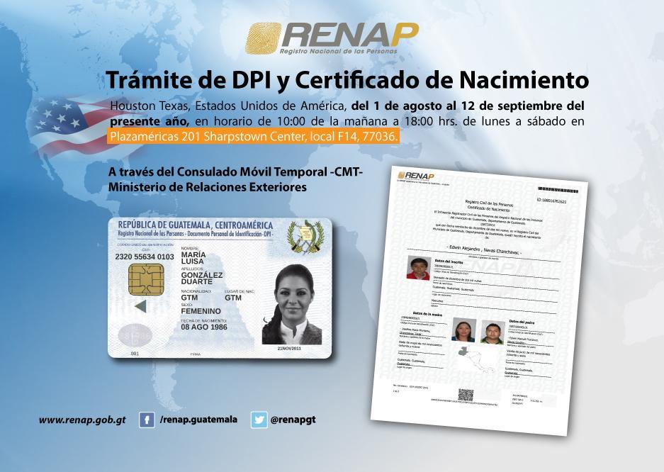 houston #texas consulado mÓvil temporal @minexgt dpi / certificado ...