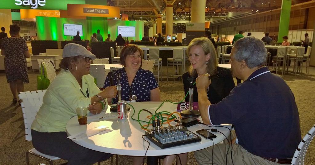 Hey NOLA,  @jenniferwarawa and I are on the NOLA  radio .  #sagesummit http://t.co/PnzlXdLbH1