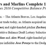 #Braves acquire 3 players - including IF Hector Olivera - and 2016 draft selection in 13-player, three-team trade: http://t.co/OcI1qnI85O