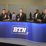 Drew Ott, Jordan Lomax and Austin Blythe about to go live on @BigTenNetwork at #B1GMediaDay. #Hawkeyes http://t.co/B6zGogs8qE