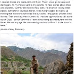 """There were no paved roads here when I was a boy. We had to walk for 3 days to get to places that only..."" http://t.co/pY7WemZGB9"
