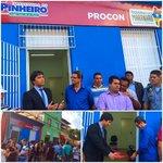 Hoje o @GovernoMA inaugurou o posto do @ProconMaranhao em Pinheiro que beneficiará toda a baixada maranhense. http://t.co/AmRTTY7UPE
