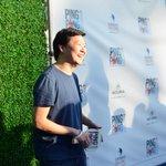 .@kenjeong walks the blue carpet at @KershsChallenge #PingPong4Purpose. http://t.co/fBGxK13K5d