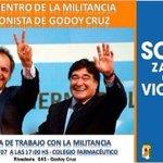 LOS TRIUNFOS SE CONSTRUYEN!  Hoy la militancia de Godoy Cruz debate y construye futuro.  Te esperamos! http://t.co/G5rh2xggPQ