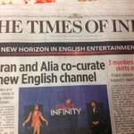 Look at the banner headline of TOI today! Is it a serious national Newspaper or some entertainment tabloid?