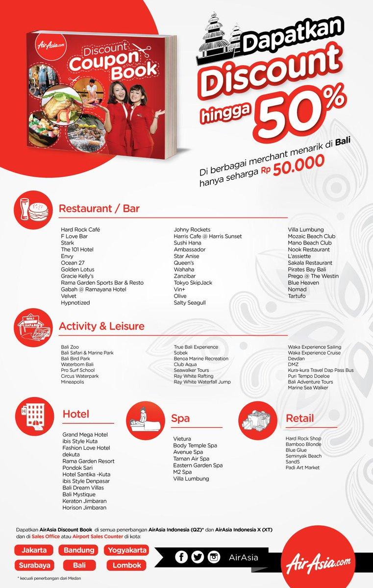 Dapatkan sekarang di penerbangan AirAsia Indonesia, dan Sales Office 50rb, silakan klik: