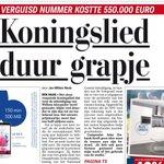 Daar sta je dan. De rekening die je wist dat zou komen is eindelijk hier #koningslied (bron: Telegraaf) http://t.co/SRwYKcX1l6