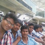 "Now watching me and my buddies #Ind""A""vsAus""A"" practice match ????????on #Chennai #cheppakkam @Ayan_Navin @Sureshvj22 http://t.co/bg4id787zJ"