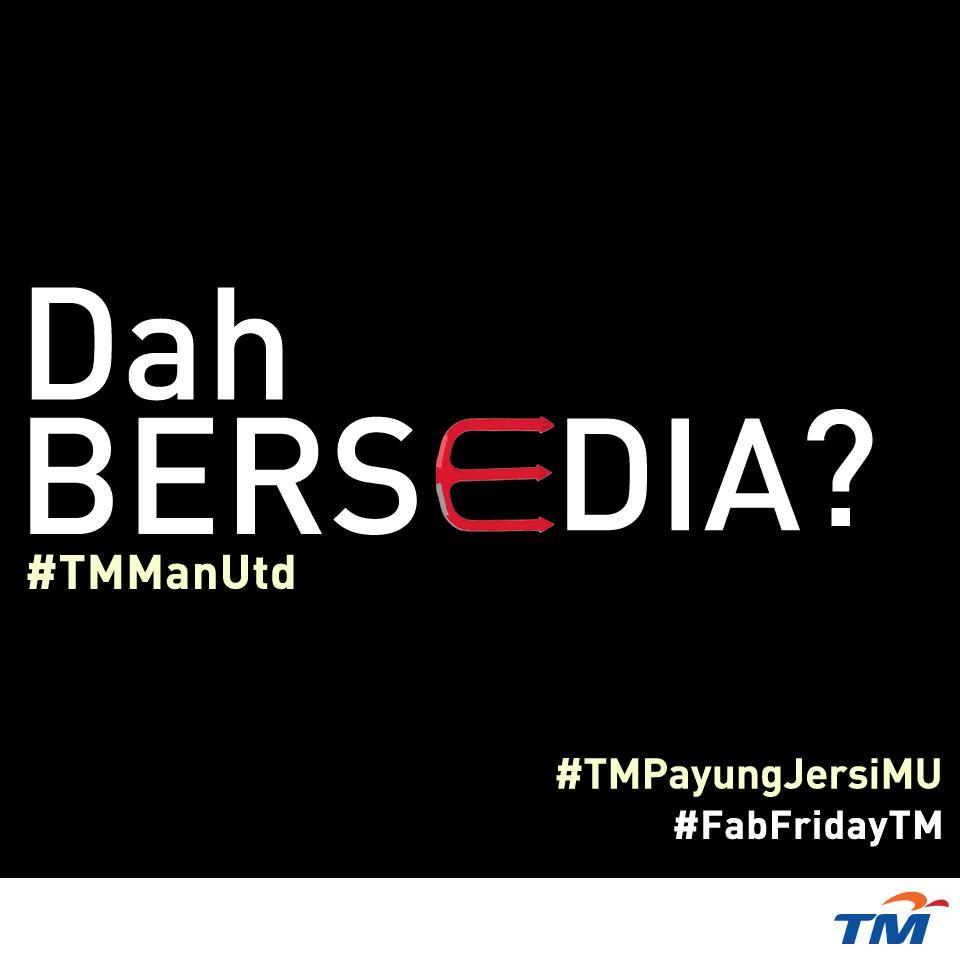 #TMPayungJersiMU #FabFridayTM akan bermula sebentar lagi! Dah ready? RT!! #TMManUtd http://t.co/lqaWKPCmj5