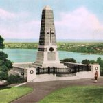 STATE WAR MEMORIAL, c1946 - With view over low-rise South #Perth. @CitySouthPerth @CityofPerth @TweetPerth @720perth http://t.co/4VIZX0iIe6