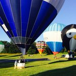 Landing at Ashton Court after the press launch for this years Bristol Balloon Fiesta http://t.co/ZdvQZe9ByE