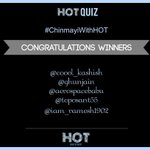 RT @HouseOfTalentIN: *DRUMROLLS*  Congratulations to the winners of the #ChinmayiWithHOT contest!  Kindly DM us your details :) @Chinmayi h…