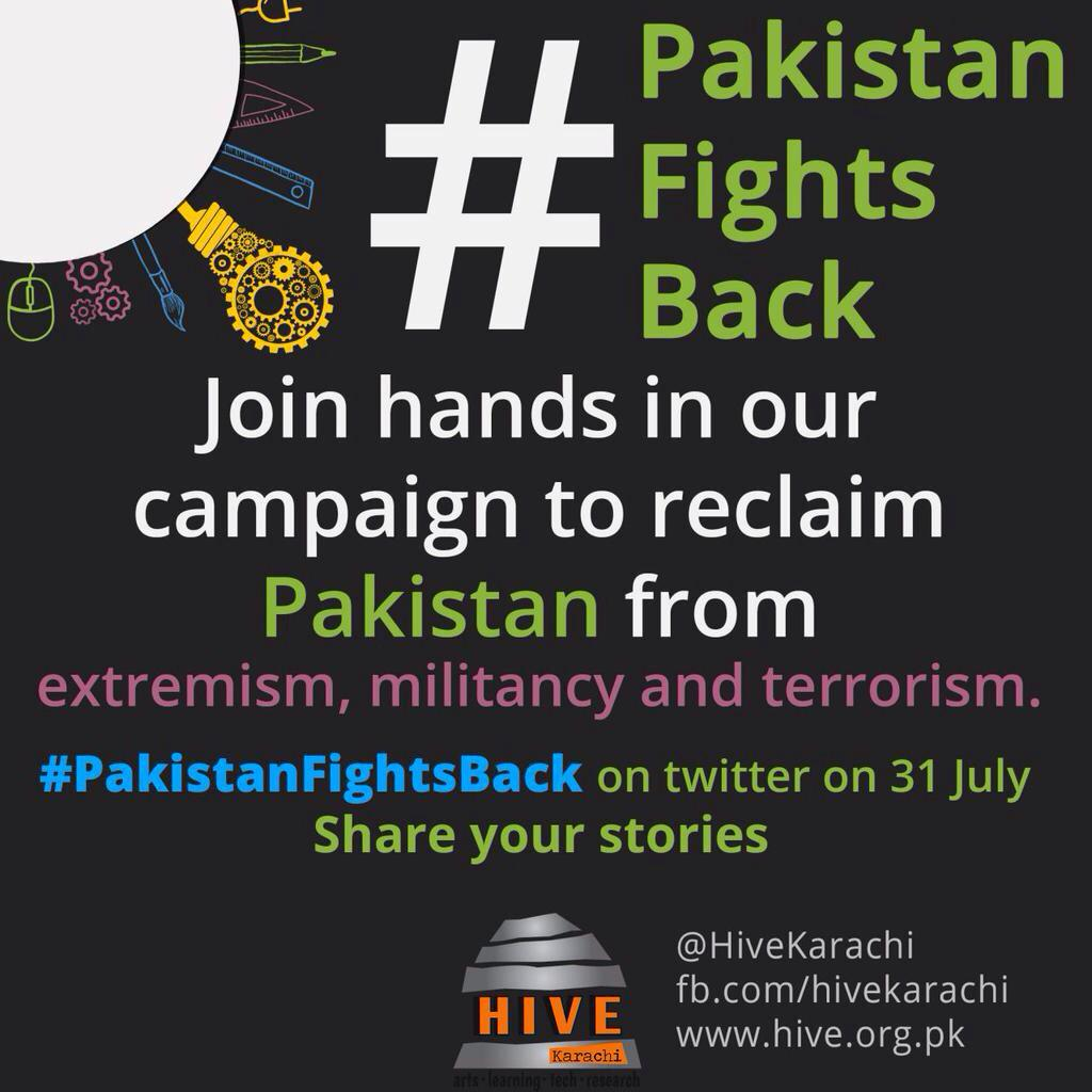 Tweet with #PakistanFightsBack to share your stories of how Pakistanis are fighting back against #extremism. http://t.co/kMYlz69e4s