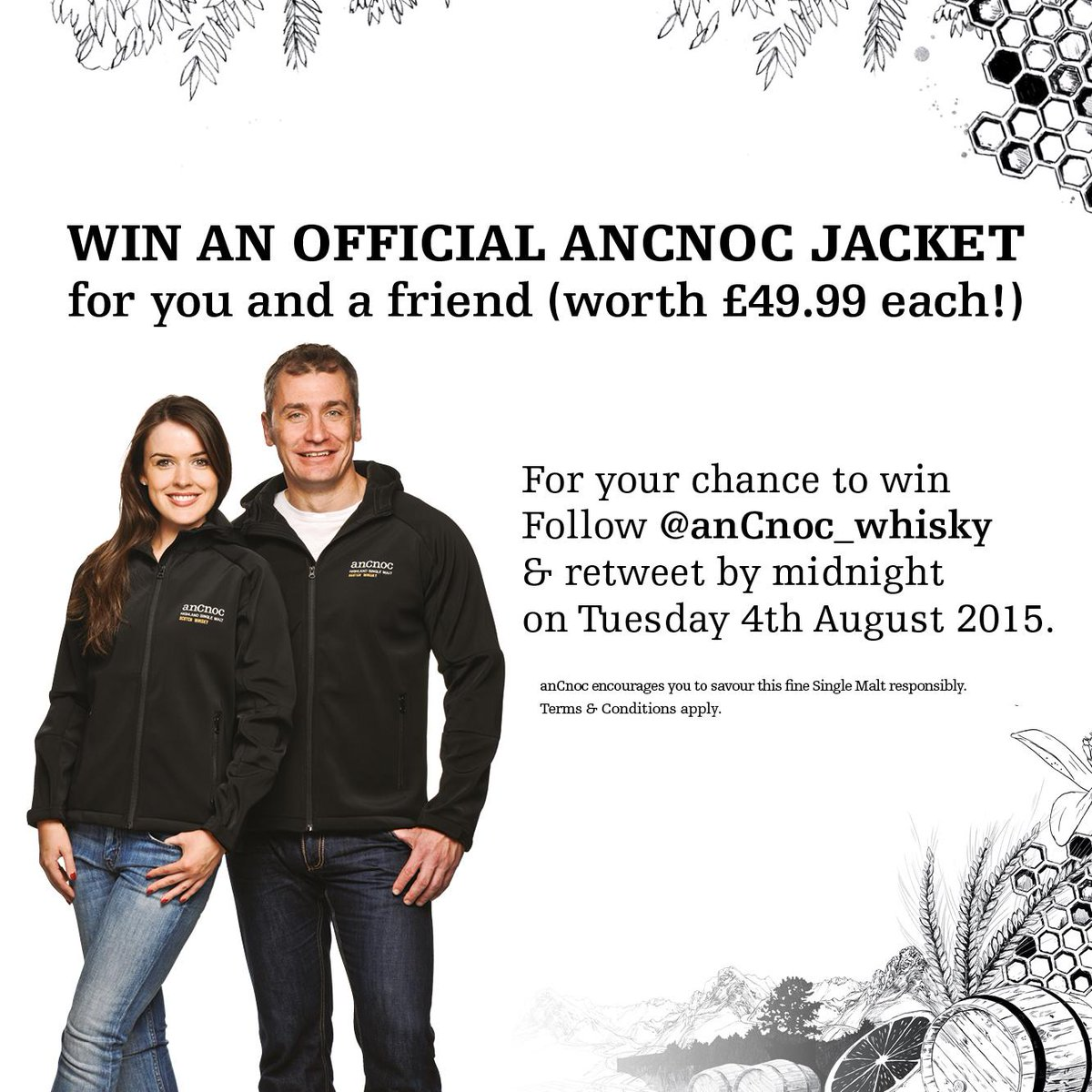 We're giving #anCnoc fans the chance to win a pair of anCnoc jackets, follow & retweet by 4th Aug 2015, good luck! http://t.co/upOG6uYpdb