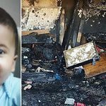 This Palestinian 1 year old infant #WasBurnedAlive today by #Israeli Nazi terrorists..! @georgegalloway http://t.co/r9E66P6XNk