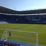The Madejski Stadium pitch is looking glorious ahead of todays Open Day. Come down and join us...gates open at 10am! http://t.co/sw7I78J4z9