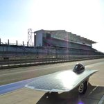 Iowa States @Team_PrISUm is racing for the win today at the @ASC_SolarRacing Formula Sun Grand Prix. #GoState http://t.co/LlXM9Ia4qp