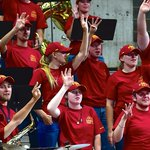 Hey Iowa State Volleyball Pep Band, how many weeks until the start of the season? #FourWeeks #Cyclones http://t.co/VdWBIsfjvy