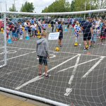 The blindfold penalty shootout is going on right now in the Royals Fun Zone, run by Reading FC Community Trust. http://t.co/OistvoGh2m