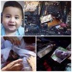 مستوطنون صهاينة يحرقون منزلاً بمن فيه في #نابلس مما أدى إلى استشهاد رضيع وأمه بحالة خطرة #حرقوا_الرضيع #علي_دوابشة http://t.co/6uI1rRD7HV