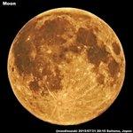 わぁぁ☆!お見事☆!フルムーン100パーセント!→ @naodisuzuki: 先ほどISS前に撮影しました〜!輝面比100%の満月です〜! #満月 #ブルームーン http://t.co/zxpV7Jt7yv