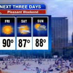 Looking good next 3 days #Chicago Warm with chance storms Sat night & Sunday Have a great weekend @Fox32News http://t.co/3t3G3KneYm