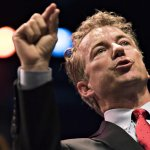 """Rand Paul blames Donald Trumps rise in polls on """"temporary sort of loss of sanity"""": http://t.co/3ZyUGl9kX7 (Getty) http://t.co/hNMk1x1RPv"""