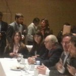 En el desayuna de presentación e intercambio #AgendaAmbiental #Mendoza @hugobilbao @GElizaldeMza @danielscioli http://t.co/lrT13DVzPB
