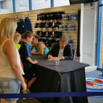 Co-Chairman Sir John Madejski is signing autographs in the Megastore right now. #MyTownMyClub http://t.co/lOSIekrqCY