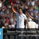 It's been a wonderful comeback to Test cricket for Steven Finn http://t.co/Z5VCzuLbMq #Ashes #InvestecAshes