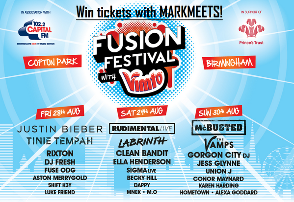 Win a pair of tickets to Fusion Festival in Birmingham! Follow @MarkMeets + Retweet to enter! Closes Sun 8pm.
