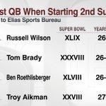 Russell Wilson: youngest QB to start 2 Super Bowls (via @EliasSports): http://t.co/MJSgtjcdC6