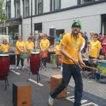 Off to a rousing start with @GenzymeCorp Spraoi Orchestra #spraoi15 #loveWaterford http://t.co/UfL5cTeenH