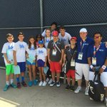 At @SpecialOlympics @LA2015 tennis games at @LATennisCenter; met many athletes including these from Spain & Slovakia http://t.co/8gJHx11tyU