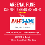 .@ArsenalPune FA Community Shield Screening: Details Here https://t.co/fR0ANO6b9F #Pune #Arsenal http://t.co/fTuMQJV6ef