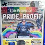 Interesting to see two different angles re: #Pride biz boom on fronts of @VancouverSun @theprovince today. #Vancouver http://t.co/nV1QSvLEbo