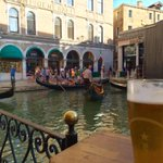 In Venice now, view from my room, a Gondola station and Hard Rock Cafe Venice, life is tough!! :) http://t.co/knI2mtWhcx