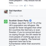 The Scottish Green Party social media team on top form defending refugees and migrants. Great stuff! @scotgp http://t.co/sAO30lCJeT