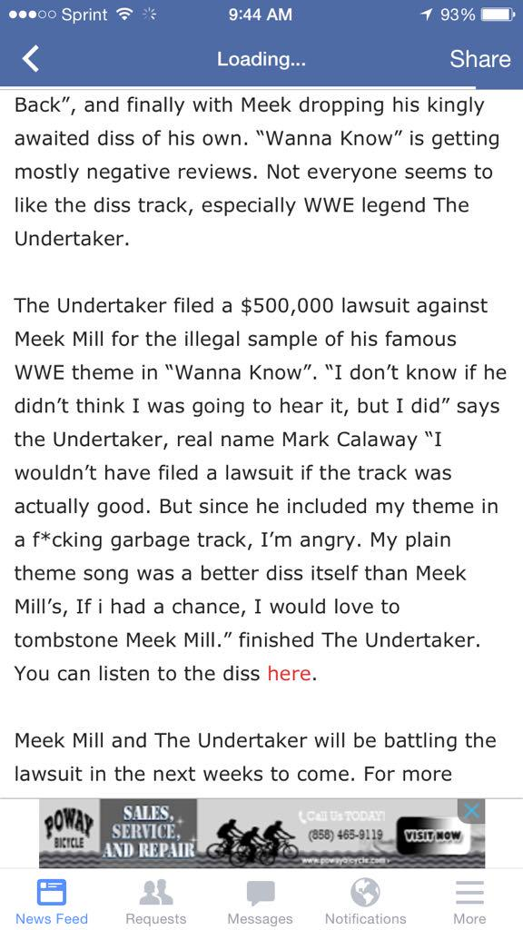 """Damn even """"The Undertaker"""" was unimpressed lol and he's suing. 500k lol http://t.co/1oN6au6dgp"""