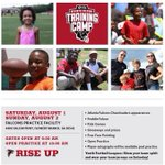 This weekend! Bring your family and kids to @AtlantaFalcons Training Camp to have a fun time and see us work! http://t.co/ypdQhjVSPc