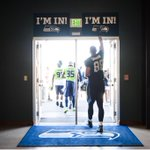 We may need a taller #ImIn sign for the new guy. ✋ #SeahawksCamp #TGIBF http://t.co/CSnF3YrFe0