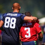 Prob my fav photo from #SeahawksCamp today. More here: http://t.co/KcxFrSo1VZ #seahawks #JimmyGraham #RussellWilson http://t.co/ZgLq0u4pBV
