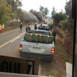 TEMUCO km. 5 ruta a Chol Chol taxibus línea 9 destruido por incendio tras falla eléctrica http://t.co/l273Tr4DpL