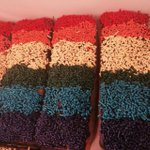 Amazing #Pride donuts available this weekend @luckysdoughnuts benefiting @alovingspoonful http://t.co/i9iuo0tvwZ