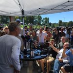 Lots of questions for Pete Carroll on day 1 of #SeahawksCamp #liveonkomo #Seahawks http://t.co/1O31WqiVOy