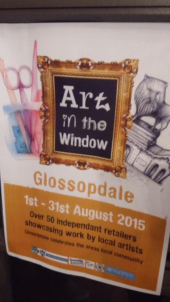 Made it to @Artinthewindow launch party at @The_Oakwood. Some great examples on display. Look out for around Glossop http://t.co/Opedm71b07